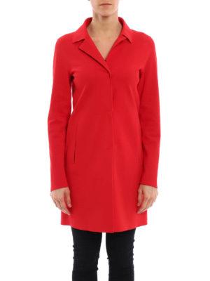 Herno: short coats online - Scuba effect jersey coat