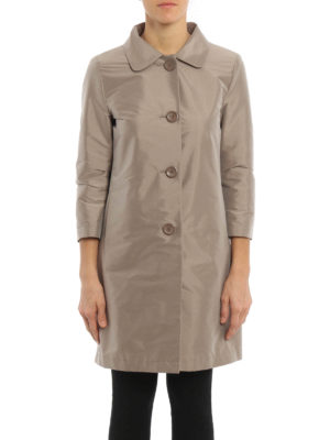 Herno: short coats online - Shimmering overcoat