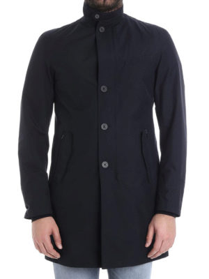 Herno: short coats online - Stand-up collar detailed coat