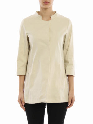 Herno: short coats online - Stiff cotton blend short coat