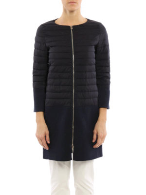 Herno: short coats online - Straight line design short coat