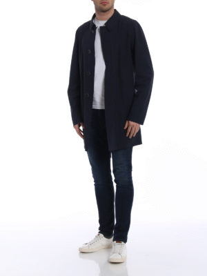 Herno: short coats online - Techno stretch overcoat