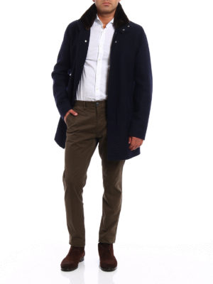 Herno: short coats online - Wool cloth coat with padding