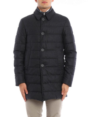 Herno: short coats online - Wool padded coat