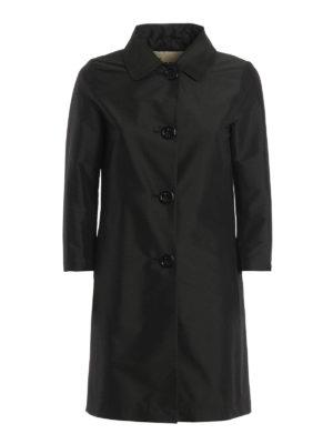Herno: short coats - Shimmering overcoat