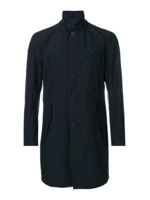 Herno: short coats - Stand-up collar detailed coat