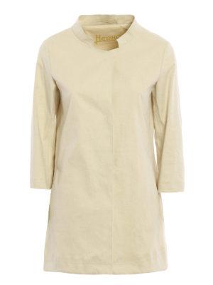 Herno: short coats - Stiff cotton blend short coat