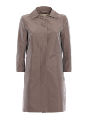 Herno: short coats - Stretch taupe dust coat