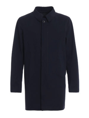 Herno: short coats - Techno stretch overcoat