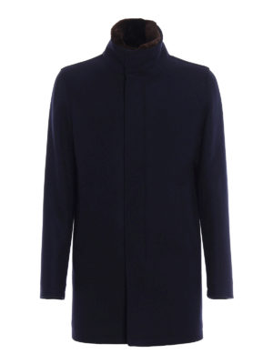 Herno: short coats - Wool cloth coat with padding