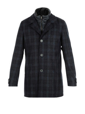Herno: trench coats - Double front wool blend coat