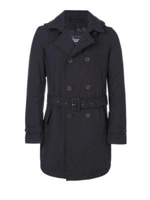 HERNO: cappotti trench - Trench classico con cappuccio e cintura