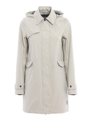 Herno: trench coats - Laminar hooded raincoat