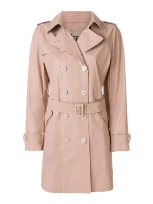 HERNO: cappotti trench - Trench in cotone color carne