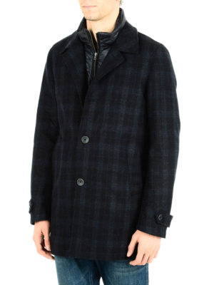 Herno: trench coats online - Double front wool blend coat
