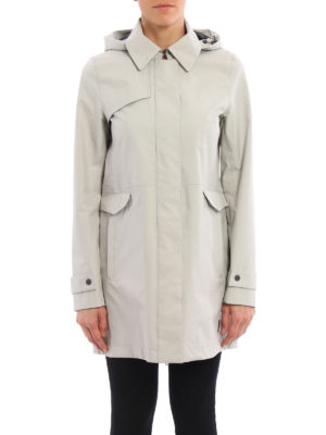 Herno: trench coats online - Laminar hooded raincoat
