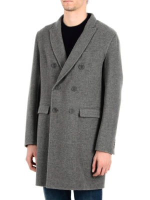 Herno: trench coats online - Virgin wool double-breasted trench