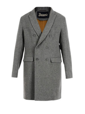 Herno: trench coats - Virgin wool double-breasted trench