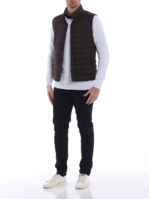 Herno: waistcoats & gilets online - Breathable quilted and padded vest