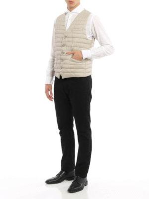 Herno: waistcoats & gilets online - Slightly padded nylon waistcoat