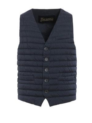 Herno: waistcoats & gilets - Slightly padded nylon waistcoat