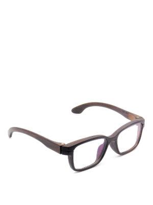 HERRLICHT: Glasses - Wood rectangular optical glasses