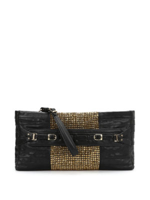 Herve Leger: clutches - Grand soirée Ebony clutch