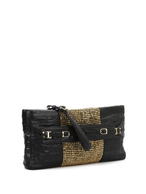 Herve Leger: clutches online - Grand soirée Ebony clutch
