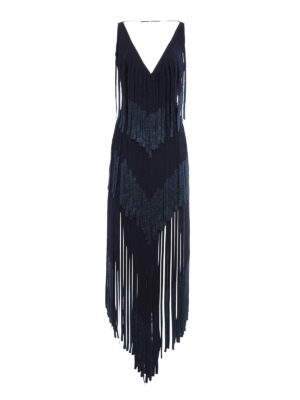 Herve Leger: evening dresses - Izabel fringe bandage dress