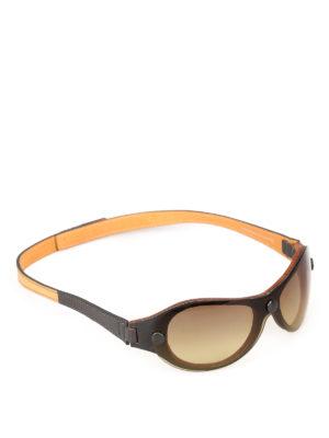 HISTOIRE DE VOIR: occhiali da sole - Occhiali da sole in pelle con doppia lente