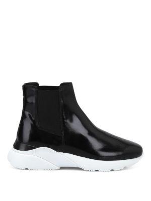 HOGAN: tronchetti - Chelsea boots slip on in pelle lucida