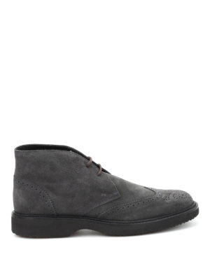 Hogan: ankle boots - H217 Route suede ankle boots