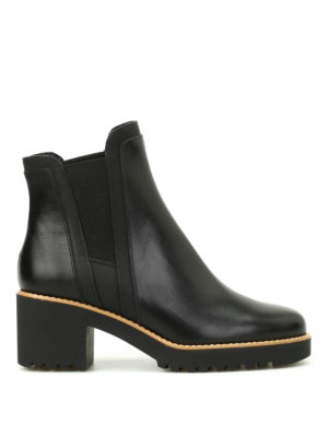 Hogan: ankle boots - H277 glossy leather booties