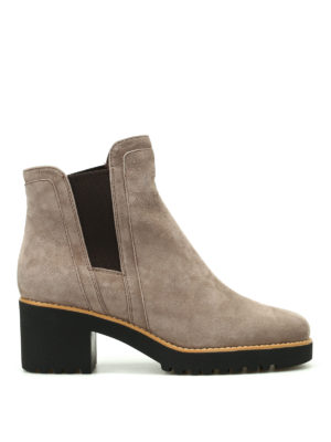 Hogan: ankle boots - H277 suede ankle boots