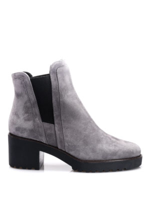 Hogan: ankle boots - H277 suede booties