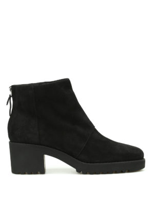 Hogan: ankle boots - H277 zipped suede ankle boots