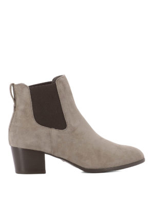 Hogan: ankle boots - H314 beige suede Chelsea boots