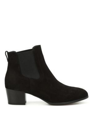 Hogan: ankle boots - H314 heeled suede Chelsea boots