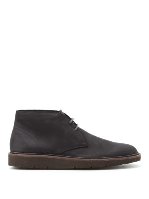Hogan: ankle boots - H322 Derby grey suede desert boots