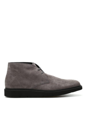 Hogan: ankle boots - H322 Derby suede desert boots