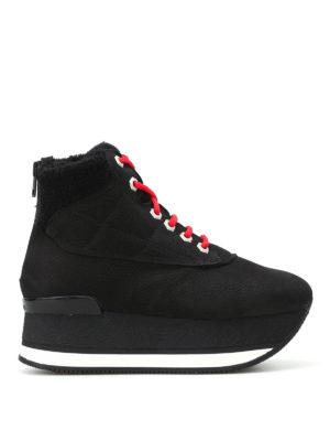 Hogan: ankle boots - H328 grainy nubuck mountain booties