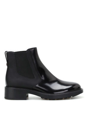 Hogan: ankle boots - H332 leather and napa booties