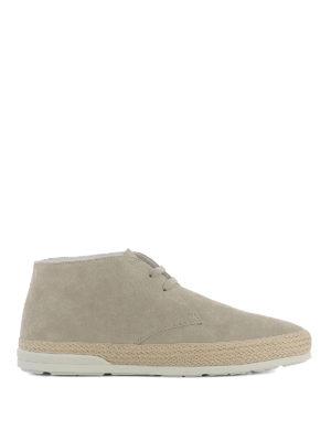 Hogan: ankle boots - H358 Derby beige desert boots