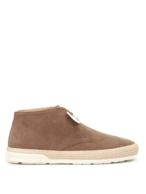 Hogan: ankle boots - H358 Derby suede desert boots