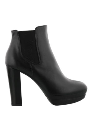 Hogan: ankle boots - Heeled leather slip-on booties
