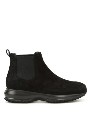 Hogan: ankle boots - Interactive Chelsea suede boots