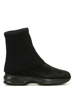 Hogan: ankle boots - Interactive wool and suede booties