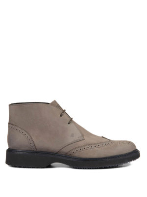 Hogan: ankle boots - Leather Route H217 ankle boots