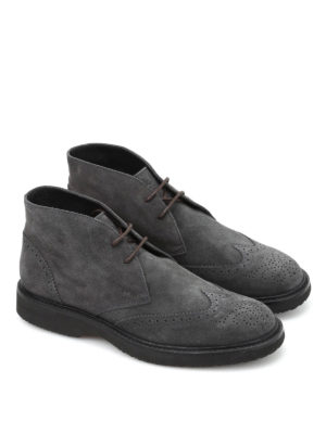 Hogan: ankle boots online - H217 Route suede ankle boots