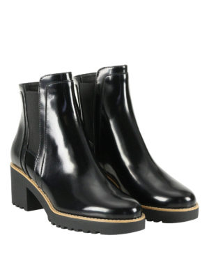 Hogan: ankle boots online - H277 leather Chelsea boots